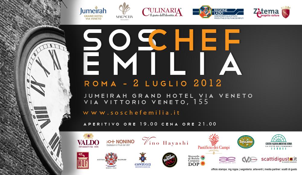 Lunedì 2 luglio – Sos chef per l'Emilia, la grande cucina aiuta le zone terremotate