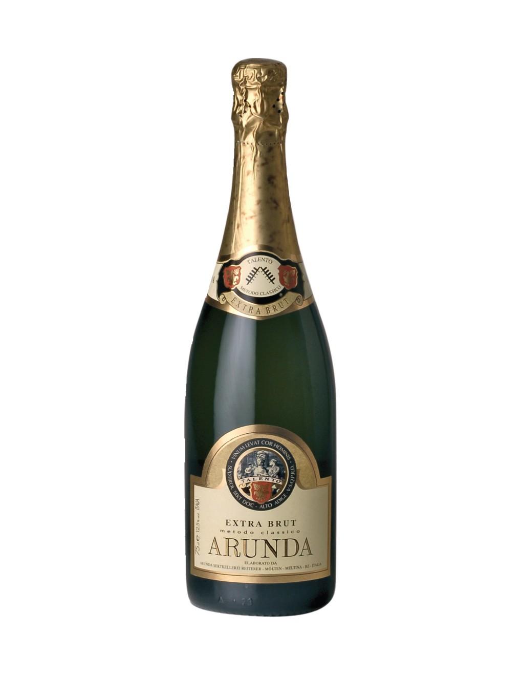 Bottiglia di Extra Brut Metodo Classico della cantina Arunda