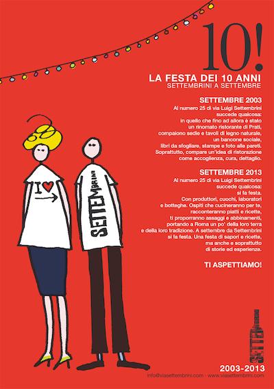Manifesto eventi via Settembrini