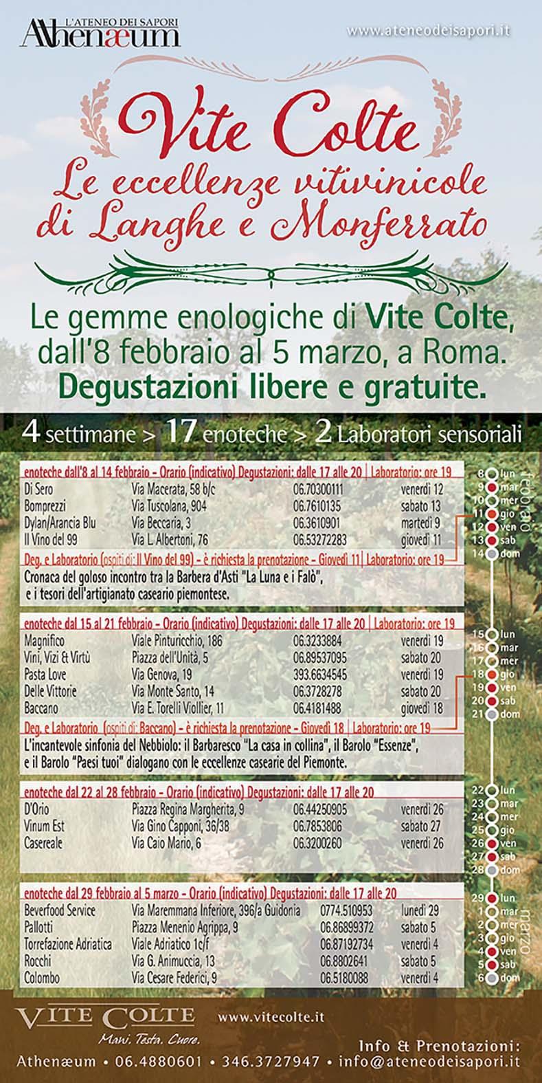 Vite Colte – le eccellenze vitivinicole di Langhe e Monferrato all'ombra del cupolone
