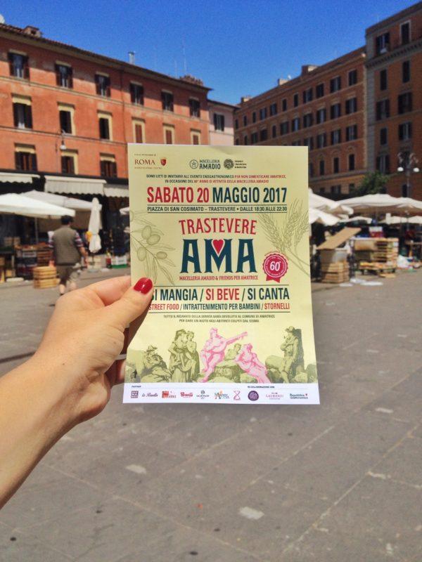 TrastevereAma, domani a Roma in Piazza San Consimato