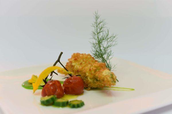 zucchina romanesca e il suo fiore croccante