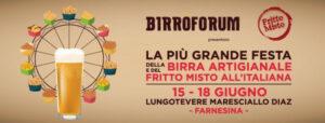 Birròforum 2017 – 15 -18 giugno Roma – birra artigianale, grandi chef e maestri del cinema….