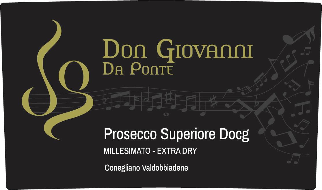 Conegliano Valdobbiadene Prosecco Superiore Don Giovanni Da Ponte Extra Dry 2016 - Sparkle 2018