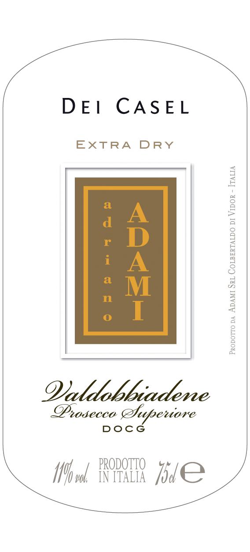Valdobbiadene Prosecco Superiore Dei Casel Extra Dry - Sparkle 2018