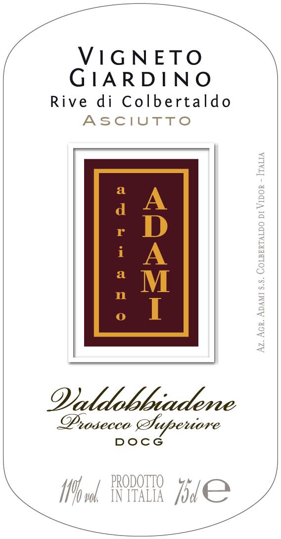 Valdobbiadene Prosecco Superiore Rive di Colbertaldo Vigneto Giardino Asciutto 2016 - Sparkle 2018
