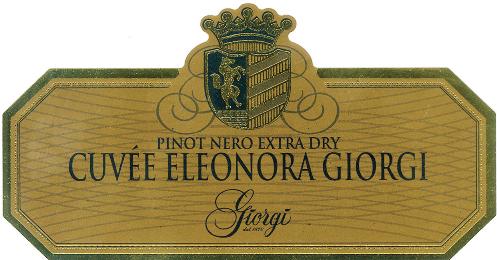 Cuvée Eleonora Giorgi Pinot Nero Extra Dry - Sparkle 2018