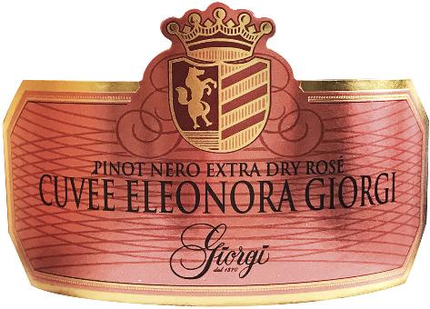 Cuvée Eleonora Giorgi Pinot Nero Rosé Extra Dry - Sparkle 2018