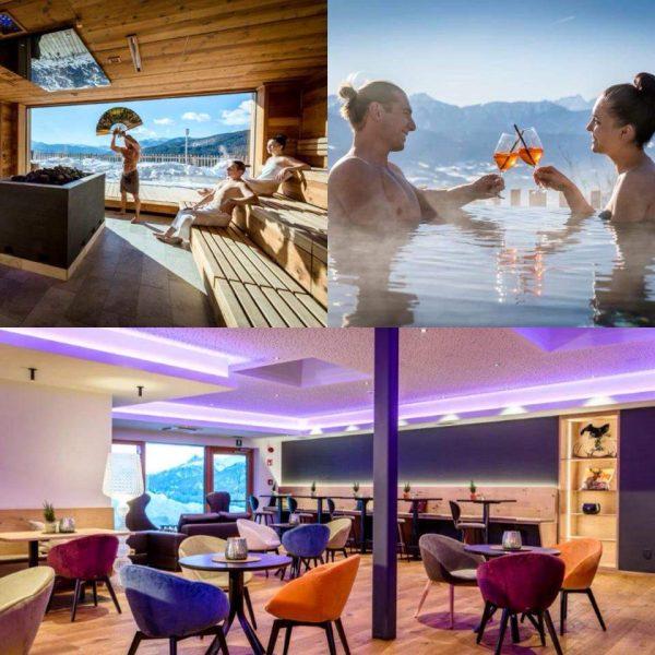 Sauna, relax e una cena per due all'Hotel Tratterhof di Maranza