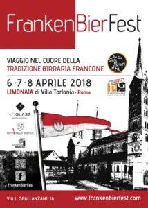 FrankenBierFest 2018 dal 6 all'8 aprile  Limonaia di Villa Torlonia – Roma