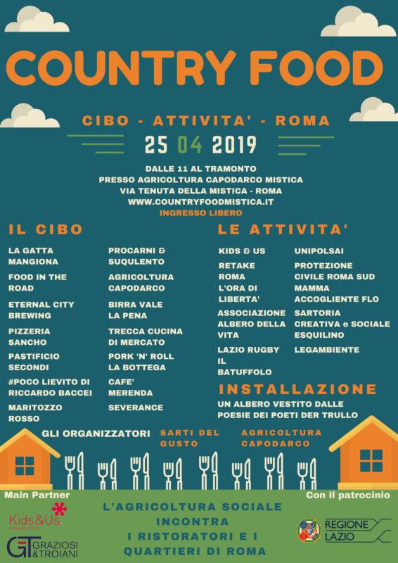 Contry Food, il 25 aprile a Roma – Parco della Mistica