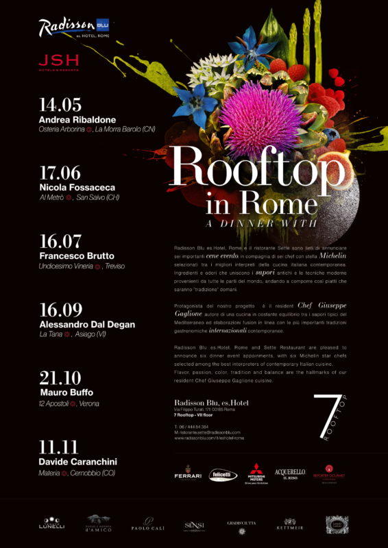 A Dinner with Radisson Blu, 6 cene stellate al Rooftop di Roma