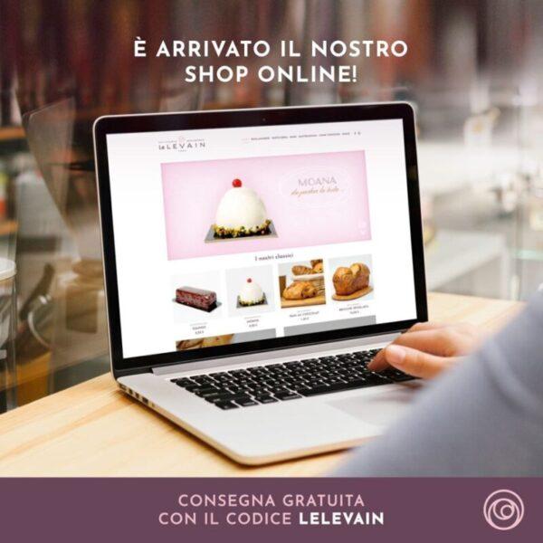 Shop online, pic nic box e rebranding per Le Levain a Roma