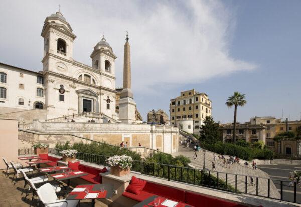L'hotel Hassler di Roma e il suo ristorante Imàgo. Terrazza e voucher per questa nuova stagione