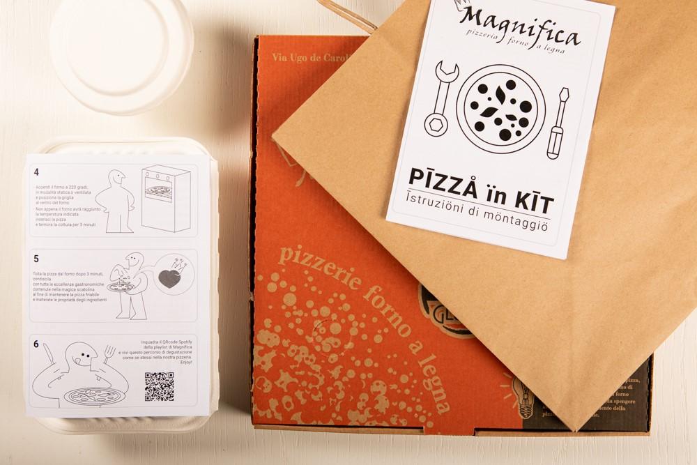 Pizza in Kit. La pizzeria Magnifica di Roma lancia la pizza fai da te