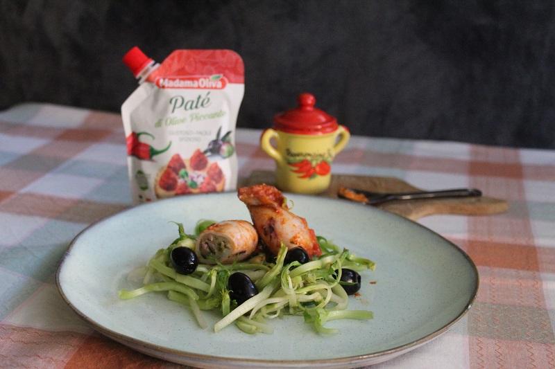 Calamari ripieni con patè di olive piccanti Madama Oliva