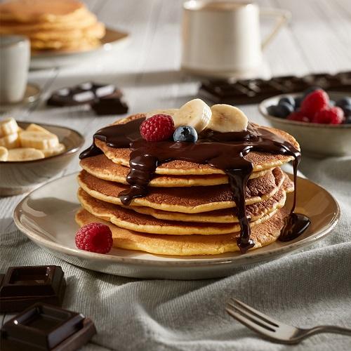Pancake con crema al cioccolato fondente
